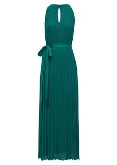 Missoni One-shoulder pleated diagonal-stripe dress