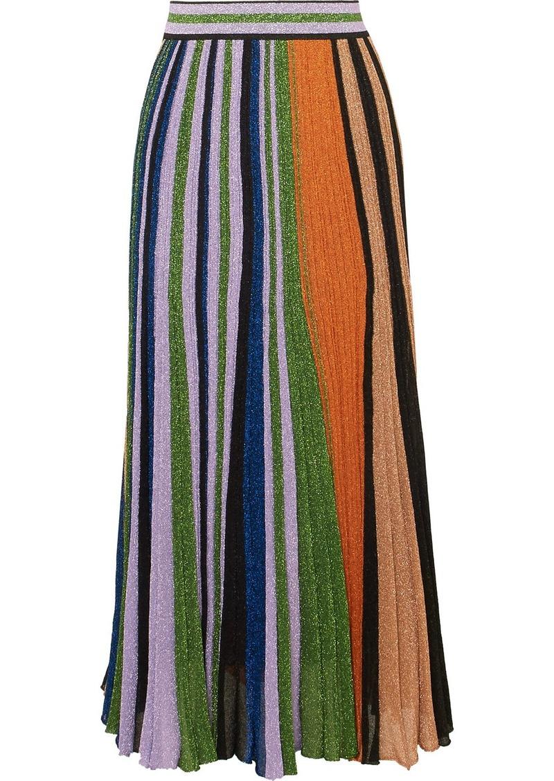 af2ba0f693d Missoni Pleated metallic stretch-knit maxi skirt