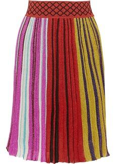 Missoni Pleated Metallic Stretch-knit Skirt