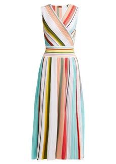 Missoni Pleated multi-stripe cotton dress