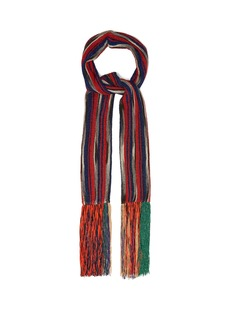 Missoni Pleated striped scarf