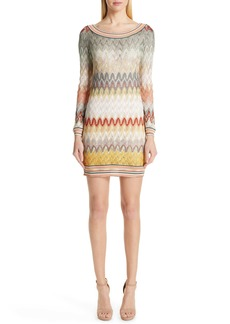 Missoni Pointelle Long Sleeve Sweater Dress