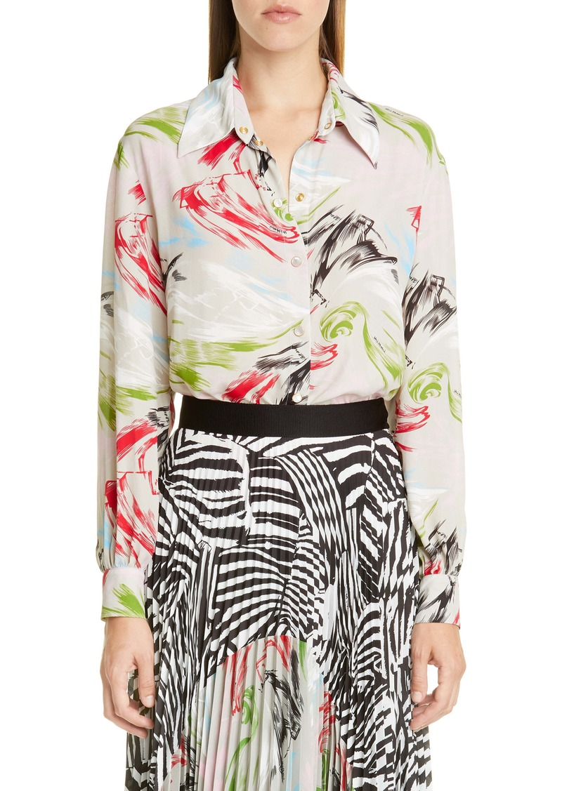 Missoni Print Long Sleeve Blouse