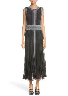 Missoni Reversible Metallic Rib Knit Dress