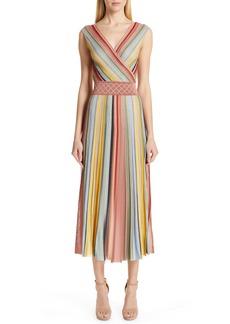 Missoni Reversible Metallic Stripe Sweater Dress