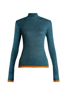 Missoni Roll-neck contrast-trim ribbed-knit sweater