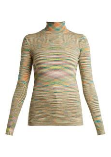Missoni Roll-neck space-dye wool sweater