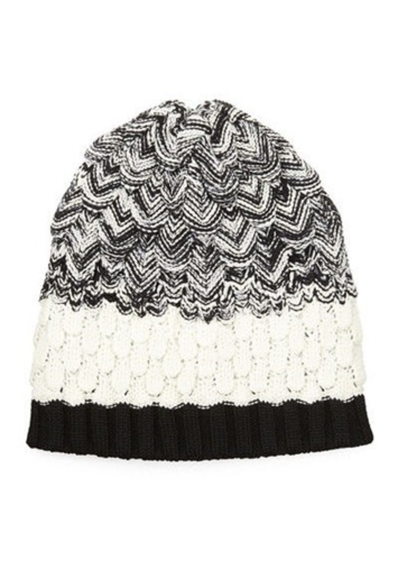 b758f7a667d Missoni Missoni Scalloped Knit Wool Beanie Hat