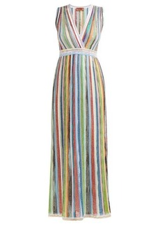 Missoni Sequinned striped lamé gown
