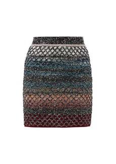 Missoni Sequinned wool-blend mini skirt