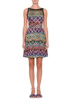 Missoni Sleeveless Flared Zigzag Dress
