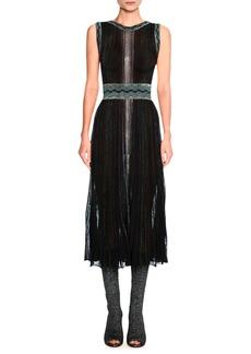 Missoni Sleeveless Lurex® Metallic Midi Dress