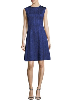 Missoni Sleeveless Metallic Fit-and-Flare Dress