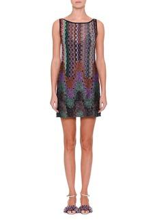 Missoni Sleeveless Mixed Knit Shift Dress
