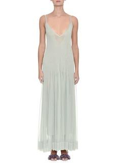 Missoni Sleeveless Plisse V-Neck Gown