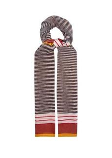 Missoni Space-dyed stripe scarf