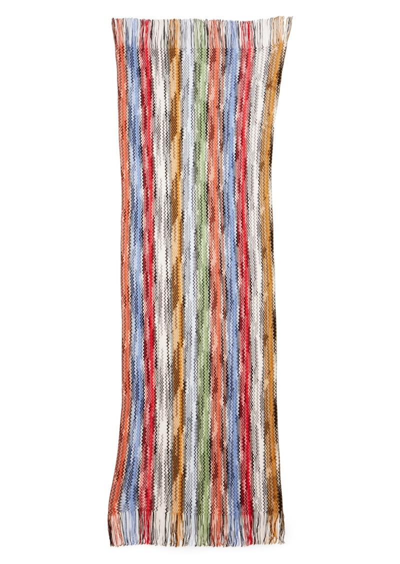 Missoni Space Dyed Stripe Wool Scarf