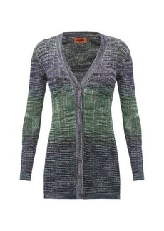 Missoni Space-dyed striped knitted longline cardigan