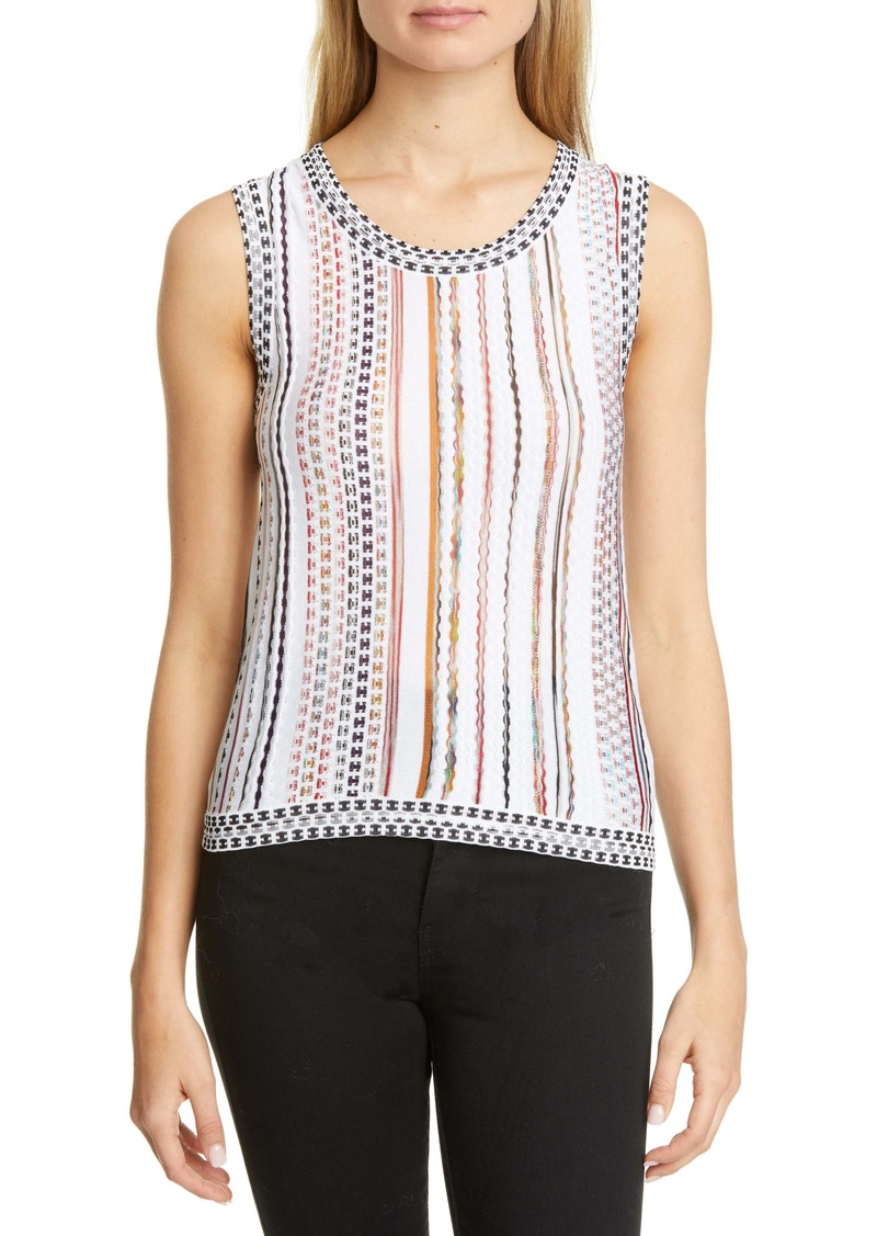 Missoni Stripe Cotton Blend Shell