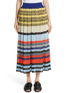Missoni Stripe Knit Midi Skirt