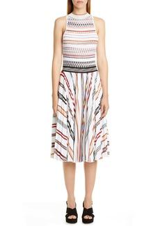 Missoni Stripe Pleat Sleeveless Knit Dress
