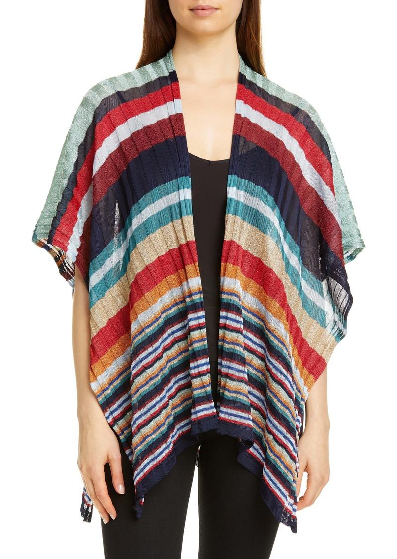 Missoni Stripe Rib Knit Cape