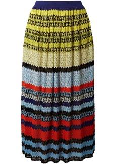 Missoni Striped Crochet-knit Midi Skirt