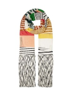 Missoni Striped fine-knit scarf