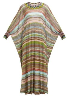 Missoni Striped knitted-mesh dress