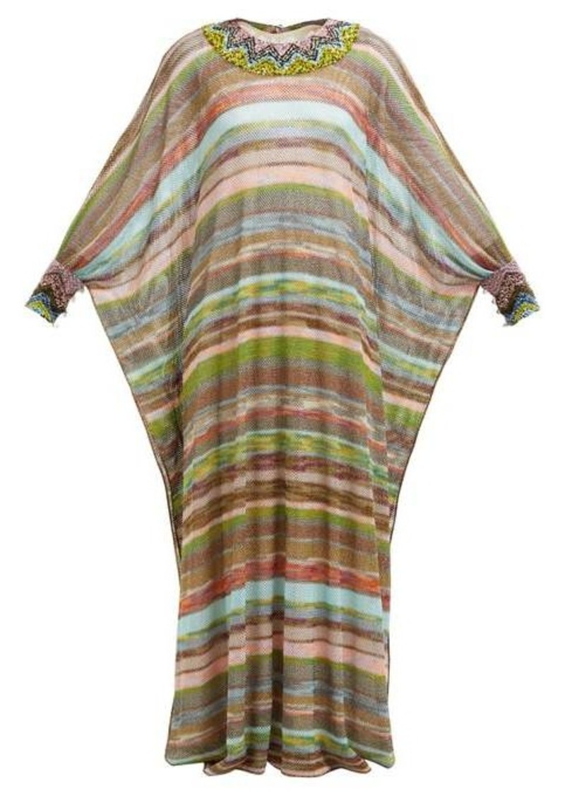 Missoni Striped knitted-mesh dress