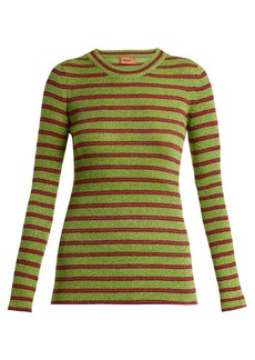 Missoni Striped long-sleeved knit top