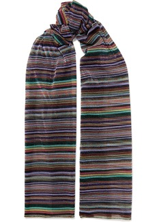 Missoni Striped metallic crochet-knit wrap