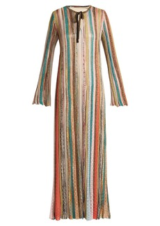Missoni Striped metallic kaftan dress