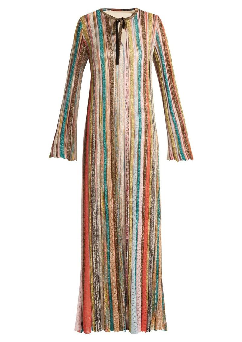 3417d0402d0c1 SALE! Missoni Missoni Striped metallic kaftan dress