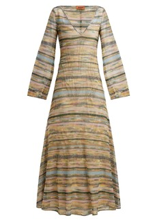 Missoni Striped metallic maxi dress