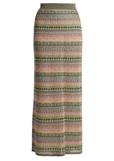 Missoni Striped metallic maxi skirt