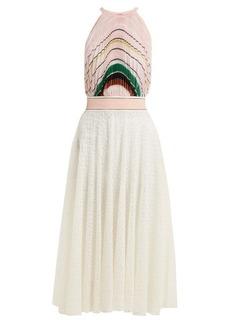 Missoni Striped pleated knit midi dress