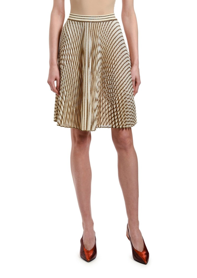 Missoni Striped Plisse Knee-Length Skirt
