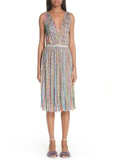 Missoni Surplice Neck Stripe Midi Dress