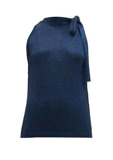 Missoni Tie-neck metallic top