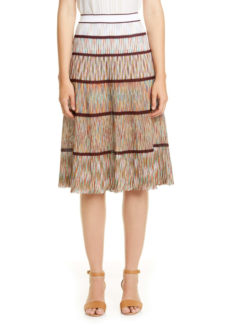 Missoni Tier Knit Cotton Skirt