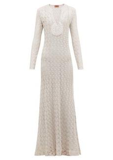 Missoni V-neck lurex-knit dress