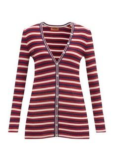 Missoni V-neck striped jersey cardigan