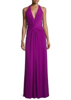 Missoni V-Neck Twist-Front Evening Gown