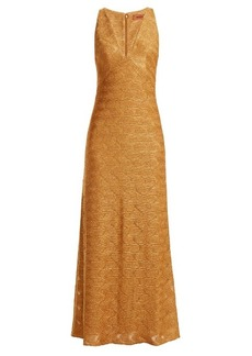 Missoni Wave-knit V-neck dress