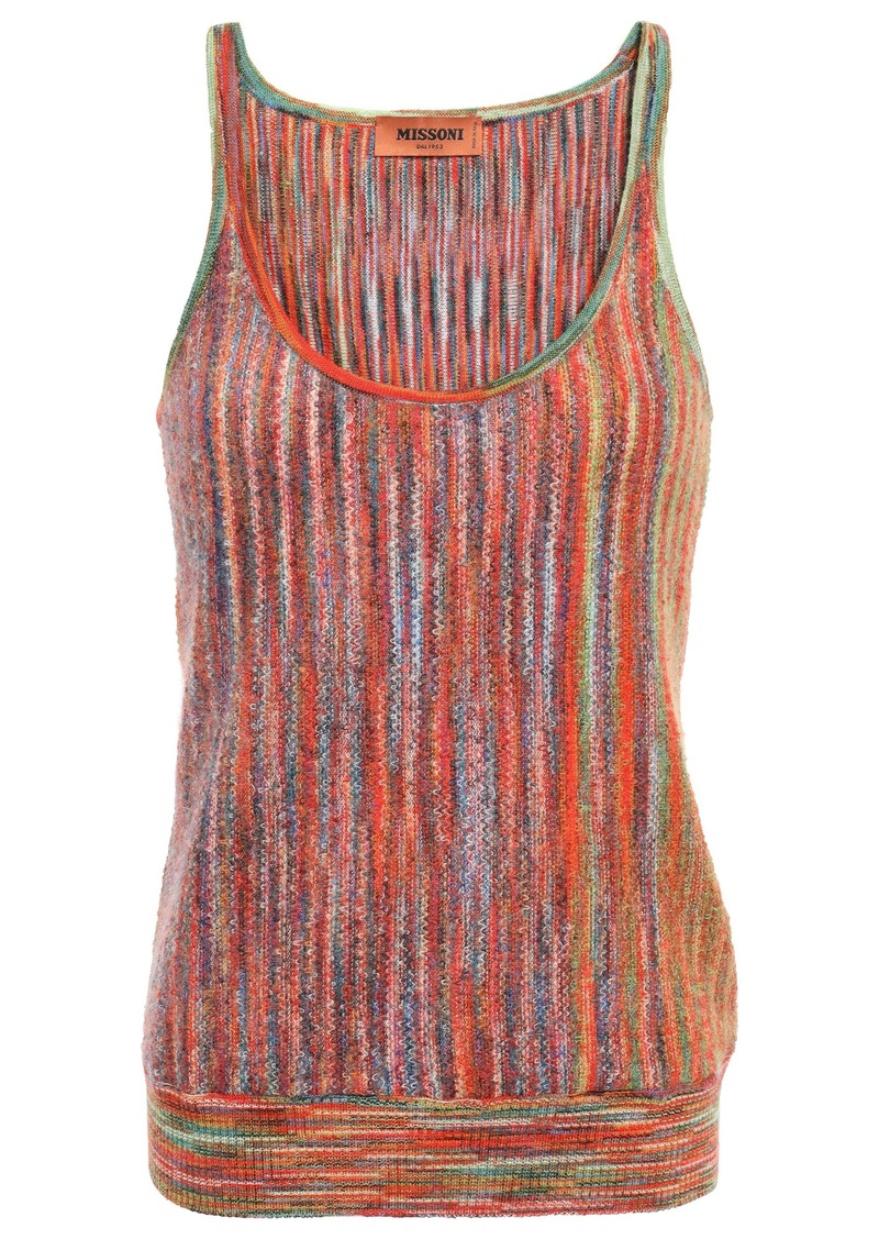 Missoni Woman Bouclé-knit Wool-blend Tank Papaya