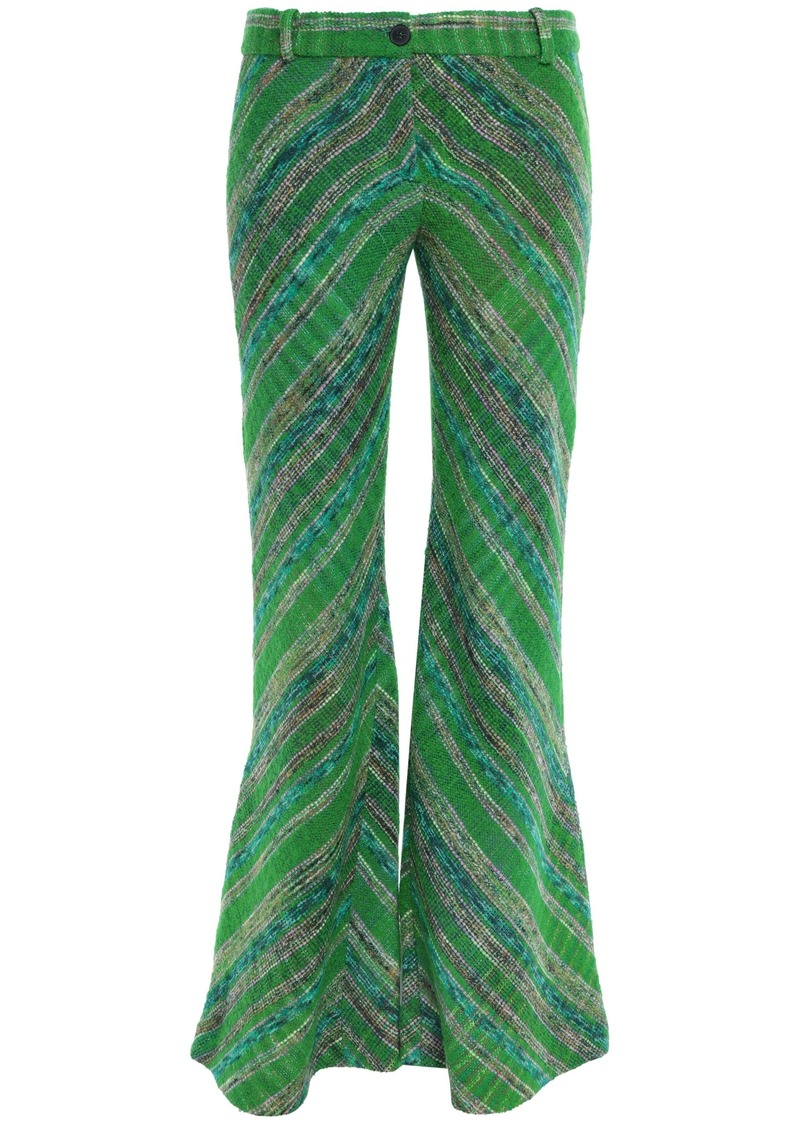 Missoni Woman Bouclé-tweed Flared Pants Green