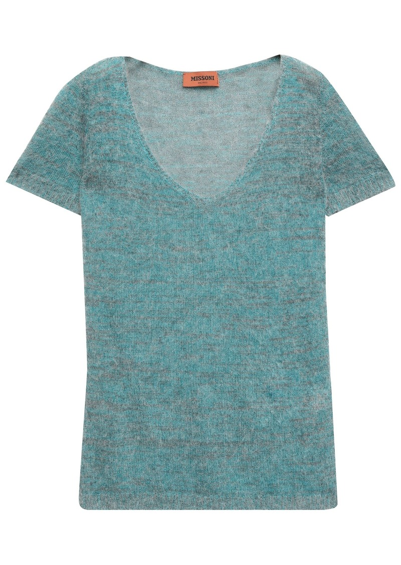 Missoni Woman Brushed Knitted Top Teal