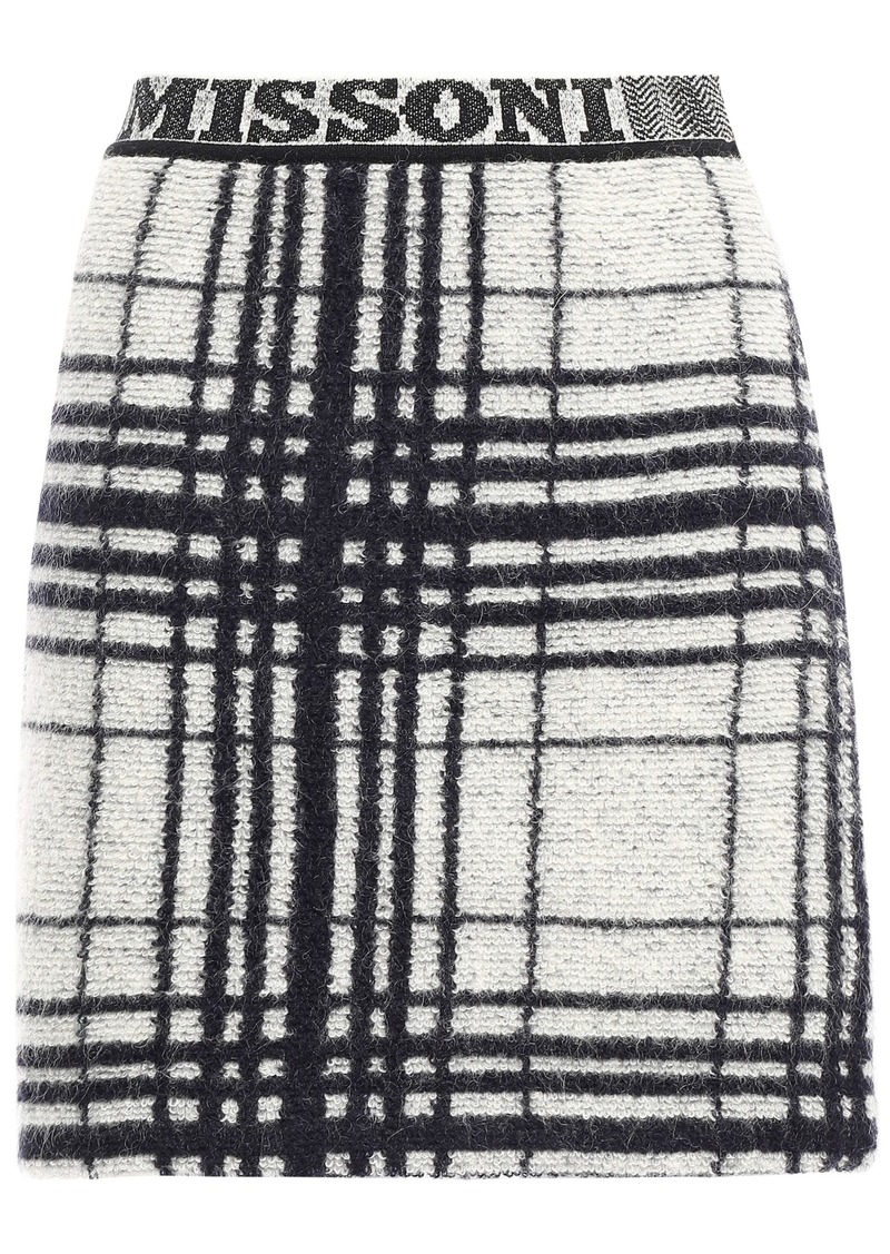 Missoni Woman Checked Jacquard-knit Mini Skirt Ivory