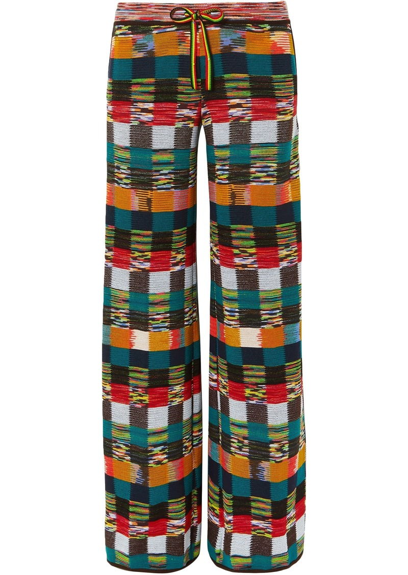 Missoni Woman Checked Wool Wide-leg Pants Multicolor